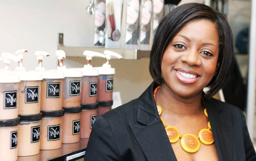 Yana Johnson of Yana Cosmetics Brockley. © 2008 Ian Stratton 07860 490841