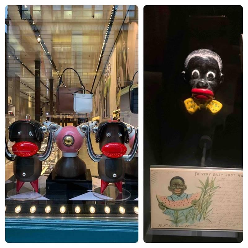 54ce1d54c9 Ezie posted on her Facebook page that she came across a Prada storefront  promoting the characters, namely Otto, in the window, and she became angry.