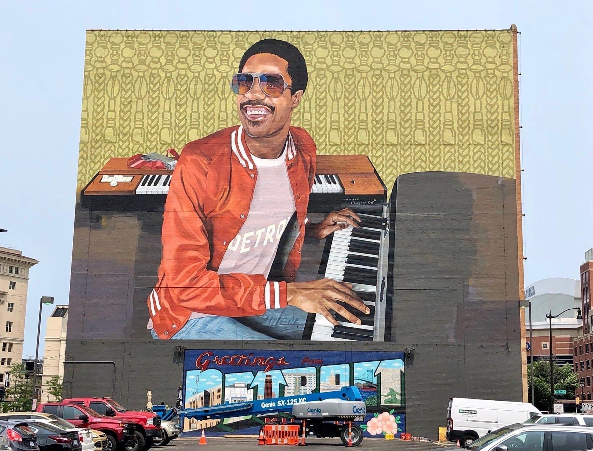 Stevie Wonder mural