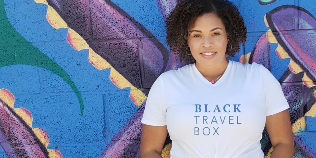 black travel box